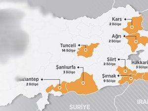 Sekiz şehirde 'güvenlik bölgeleri' ilanı