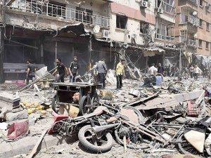 Duma'da pazar yerine bombalı saldırı: 100 ölü
