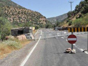 Tunceli-Erzincan yolu kapatıldı
