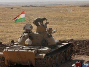 Peşmerge, IŞİD tanklarını savunma mevzisi yapıyor