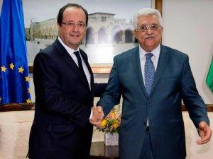 Hollande ve Abbas Paris'te görüşüyor
