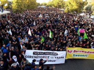 Diyarbakır'da binlerce kişi operasyonlar dursun çağrısı yaptı