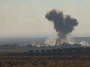 IŞİD Mevzileri Bombalandı! Dumanlar Türkiye'den Görüldü