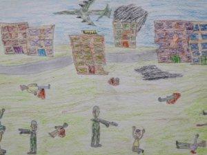 Suriyeli çocuklar için gökyüzünün rengi kan kırmızı