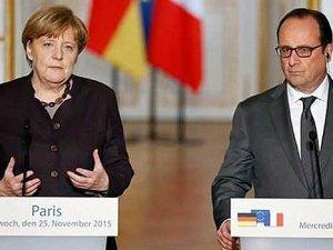 Hollande ve Merkel'den tansiyonu derhal düşürün çağrısı