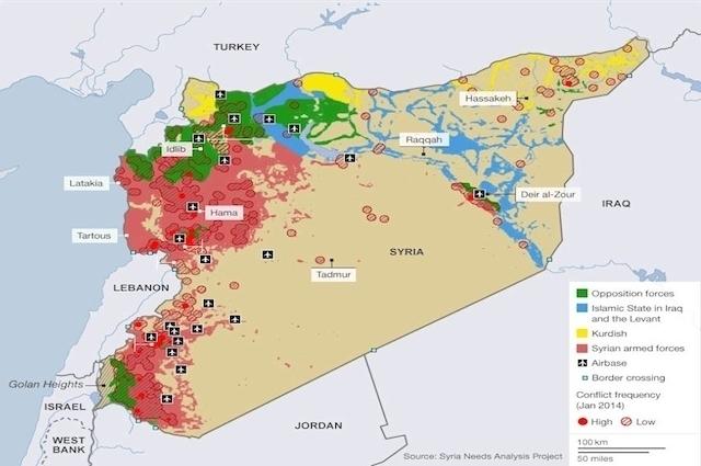 'Suriye Savaş Haritası'nın son hali