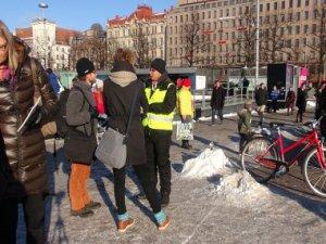 Helsinki'de Göçmen Karşıtı Eylem