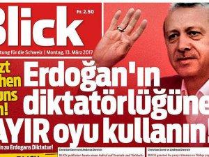 İsviçre gazetesi manşetten 'Hayır' çağrısı yaptı