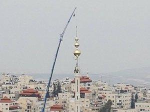 Filistin'lilerden ezan yasağına karşı en yüksek minare