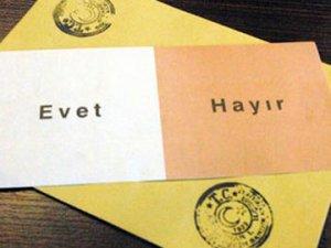SONAR, referandum anketinin sonuçlarını açıkladı: 'Hayır' önde