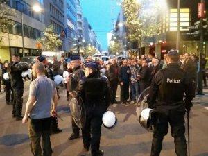Brüksel'deki referandum kavgasında beş gözaltı