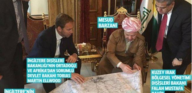 Barzani, İngiliz Bakan ile birlikte 'haritayı masaya yatırdı'