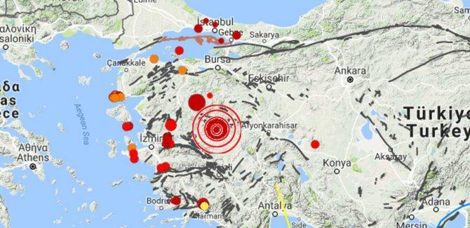 Manisa Selendi'de 4,9 büyüklüğünde deprem