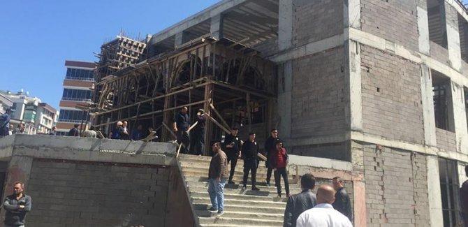 Samsun'da cami inşaatında çökme: 3 ölü