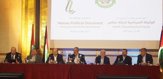 """Hamas yeni vizyon belgesini açıklıdı/""""Hamas fikri açıdan İhvan ekolünün bir parçasıdır ancak biz bağımsız bir Filistin örgütüyüz."""""""