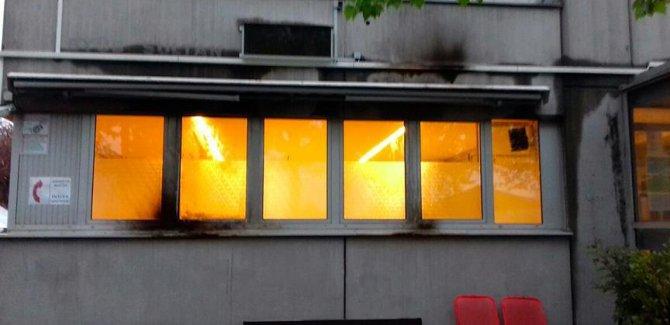 Almanya'da Cami Ateşe Verildi