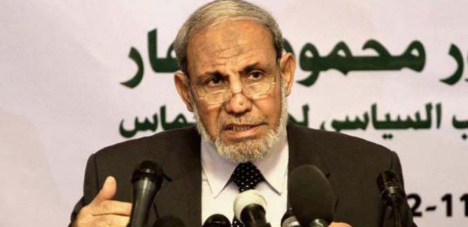Zahhar: 1967 sınırlarında bir devletin varlığını kabul etmek İsrail'i tanımak anlamına gelmiyor!