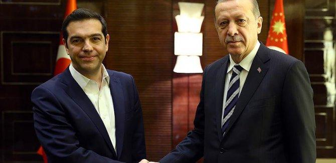 Erdoğan ve Çipras İadeleri Görüştü