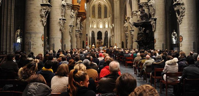 Belçika'daki Hristiyanlardan Müslümanlara destek