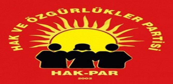 HAK-PAR'dan çağrı: Siyasi çözüm ve diyalog kanalları açılmalı