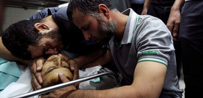 Terör devleti Gazze'ye saldırdı: 1 şehit, 6 yaralı
