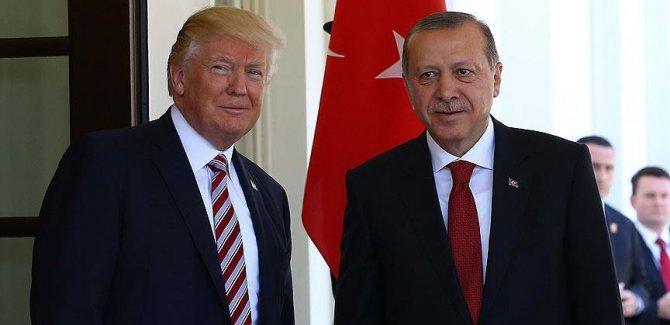Erdoğan ile Trump  Katar'ı görüştü