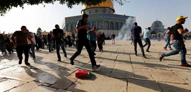İsrail polisi yine Müslümanlara saldırdı