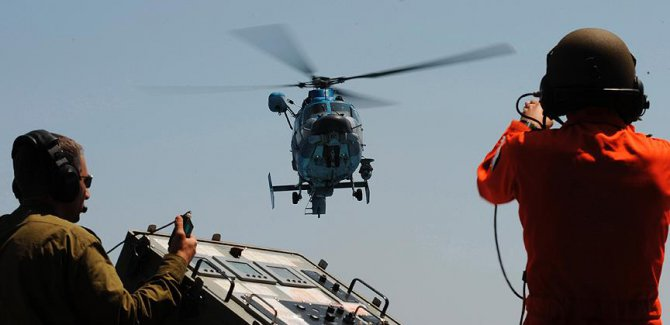 Siyonist İsrail'e ait askeri helikopter yere çakıldı