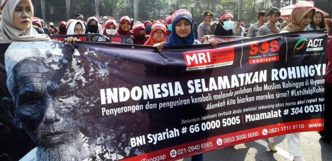 Endonezya'da Arakan protestosu