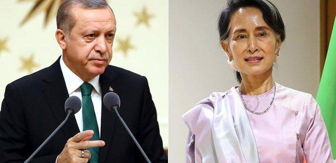 Erdoğan Myanmar lideriyle Arakan'ı görüştü
