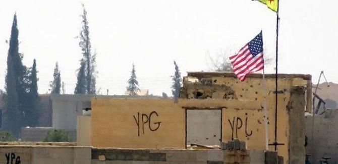 Girê Spî'de  ABD ve YPG bayrakları kaldırıldı