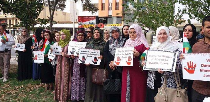 Kürdistan'da Arakan protestosu