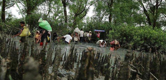 Myanmar zulmünden kaçışlar devam ediyor