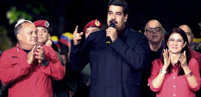 Maduro Venezuela'da seçimlerin galibi