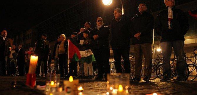 Berlin'de İsrail yönetimine protesto