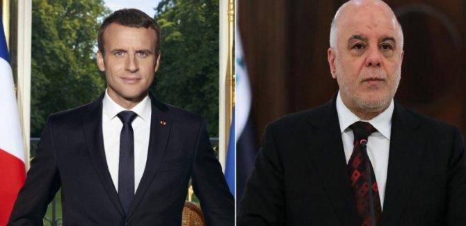 Macron'dan İbadi'ye telefon
