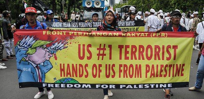ABD'nin Kudüs kararı Endonezya'da protesto edildi