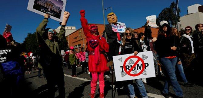 ABD'de Trump karşıtı protesto