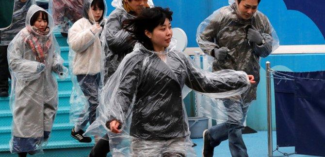 Balistik füze tehdidine karşı tahliye tatbikatı yapıldı