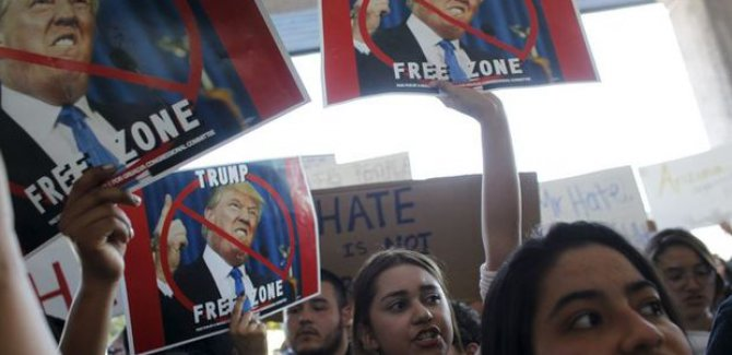 LI WAŞÎNGTONÊ TRUMP HATE PROTESTO KIRIN