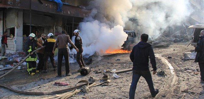 İdlib'de pazar yerine saldırı: 7 ölü, 18 yaralı