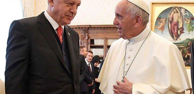 Erdoğan ve Papa'dan İslamofobi ile ortak mücadele vurgusu