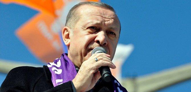 Erdoğan: 780 bin kilometrekareye düşmüşsek de buna sabrediyoruz