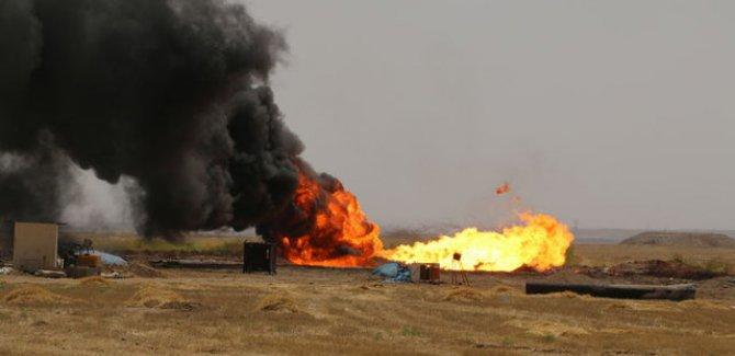 IŞİD'den Kerkükte petrol kuyularına saldırı!