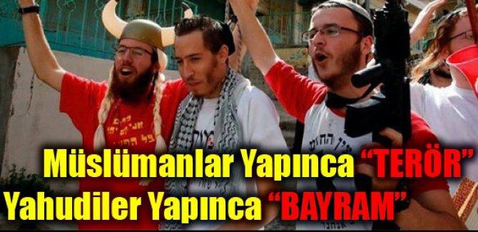 Müslümanlar yapınca terörizm, Yahudiler yapınca bayram