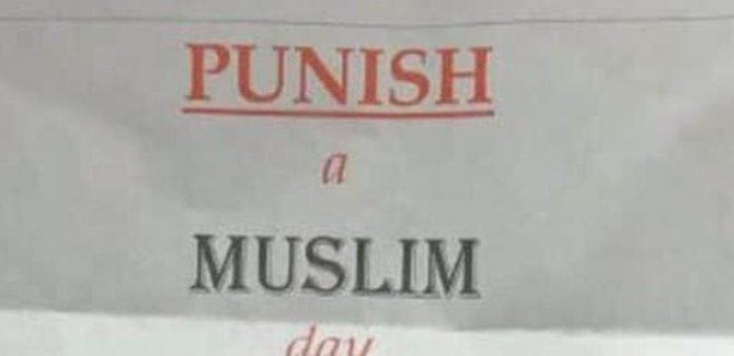 İngiltere'de Yeni Bir faşizm 'Bir Müslüman'ı Cezalandır Günü'