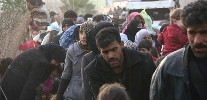 Rojhilatê Ẍûteyê: Hêzên ḥikûmeta Sûrîyeyê bi pêş ve diçin, sivîl cihê dibin