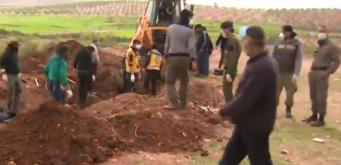 Afrin'de 110 ÖSO askerinin gömüldüğü mezar bulundu