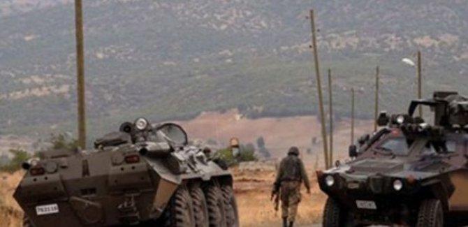 Hazro'da askeri araca roketatarlı saldırı