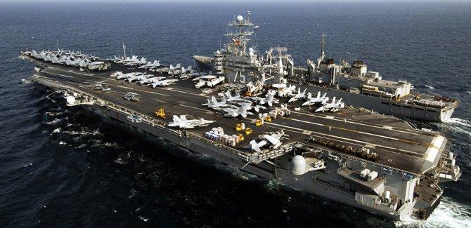 ABD Uçak gemisini Akdenize yönlendirdi